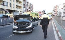 Dos agentes de la Policía Local de Cáceres resultan heridos en un choque