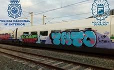 Cuatro detenidos en Málaga por pintar en trenes de Badajoz