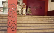 Grafitis en la Plaza de Abastos de Plasencia