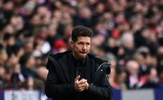 Simeone: «No creo que hayamos perdido por el VAR»