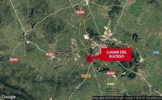 Herida tras una salida de vía en la A-66, a la altura de Malpartida de Cáceres