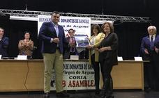 Sixto Gordillo, presidente de honor de la hermandad de donantes de sangre de Coria