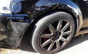 Detienen tras una persecución a un joven que se dio a la fuga y chocó contra un coche de la Policía en Badajoz