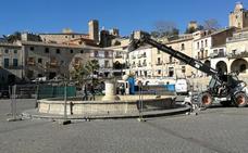 El pilar de la plaza Mayor de Trujillo tendrá nueva fuente con su alumbrado