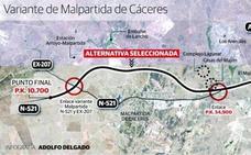 Fomento somete a información pública la variante de Malpartida de Cáceres