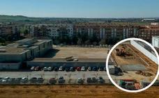 Comienza la construcción del depósito temporal de vehículos en la barriada de Valdepasillas en Badajoz