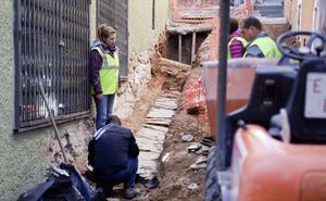 La canalización hallada en las obras de Alzapiernas data de principios del siglo XX
