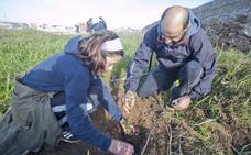 Sábado de plantabosques en la Ribera del Marco