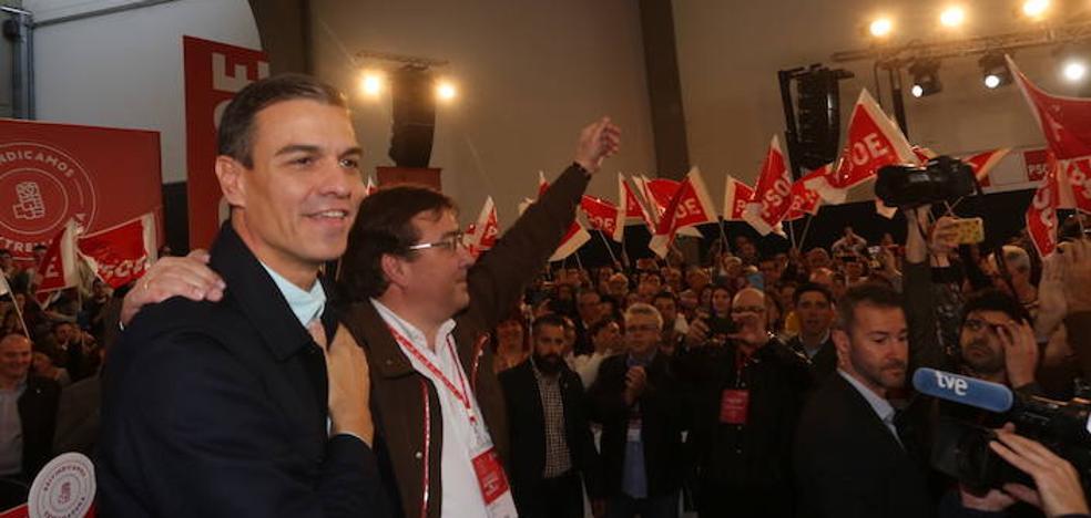 El PSOE regional refrenda a Sánchez y pide el apoyo «de la mayoría silenciosa»