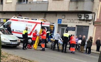 Una mujer de 57 años sufre heridas leves tras un atropello en un paso de peatones en Almendralejo