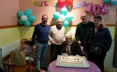 Aquilina Montes cumple 102 años