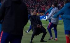 La UEFA abre expediente a Simeone por tocarse los genitales