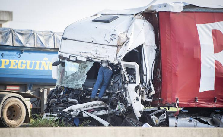 16 heridos leves en un accidente múltiple en Caya