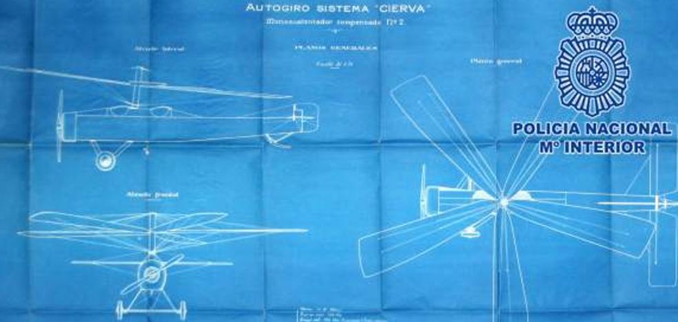 Recuperan los planos originales del autogiro, desaparecidos hace 20 años