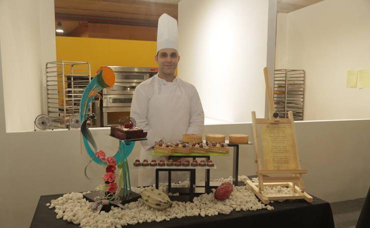 Trabajo realizado por Daniel Sarabia en el campeonato para elegir al Mejor Maestro Pastelero Artesano de España