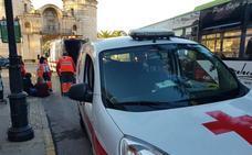 Cruz Roja atiende a dos jóvenes por agresión durante el sábado de Carnaval en Badajoz