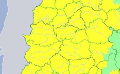 Toda la región estará este miércoles en alerta por viento y lluvia