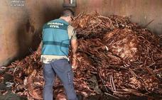 Doce detenidos de una red relacionada con robo de cobre en provincias como Badajoz