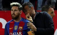 Luis Enrique admite un encontronazo con Messi cuando entrenaba al Barça
