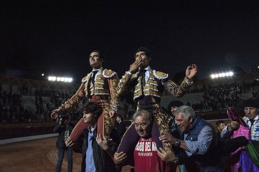 Garrido y Luis David salen a hombros en la primera corrida de la Feria de Olivenza