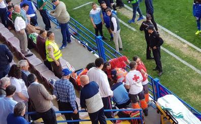 Trasladado al hospital tras sufrir una parada cardiorrespiratoria en el Extremadura-Córdoba