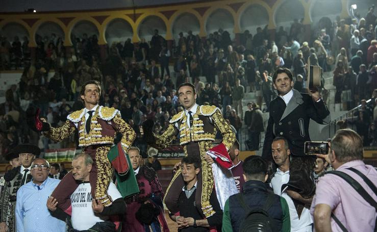 Dos faenas para el recuerdo de Ponce y El Juli en la mixta de Olivenza