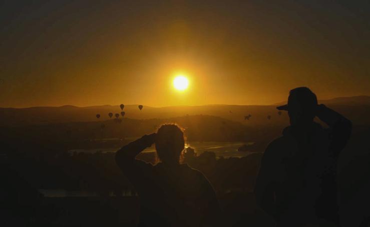 El festival de globos aerostáticos de Camberra