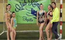 Cuatro campeonas regionales de gimnasia rítmica en Trujillo