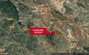 Herida una mujer de 45 años en una salida de vía cerca de Calzadilla de los Barros