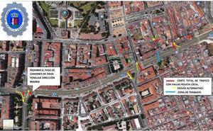 Cortes de tráfico por obras en la avenida Juan Sebastián Elcano de Badajoz