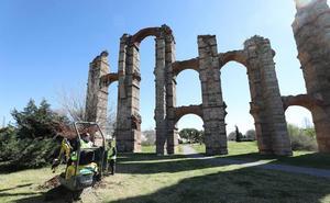 Comienzan en Mérida los trabajos previos de iluminación de la Isla y el Acueducto de los Milagros