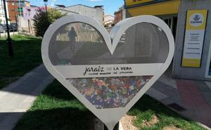 Un corazón para recoger tapones en Jaraíz de la Vera