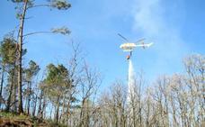 Declarado un incendio forestal en el Cerro de las Cabezas de Jaraíz