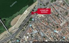 Trasladado al hospital un ciclista tras sufrir una caída en Badajoz