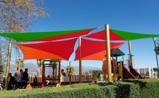 El parque-mirador Los Bolos de Jaraíz de la Vera ya cuenta con parasoles