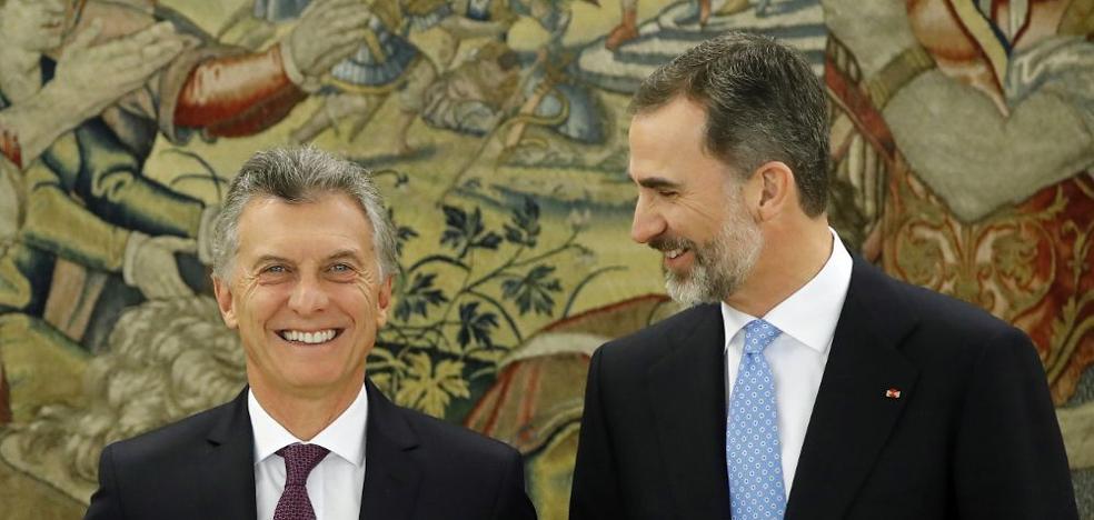 Los Reyes inician este domingo un viaje de Estado a Argentina invitados por Macri