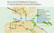 Cortes de tráfico para el domingo por el Maratón de Badajoz