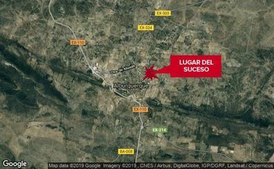 Herido grave un motorista de 34 años en una caída en Alburquerque