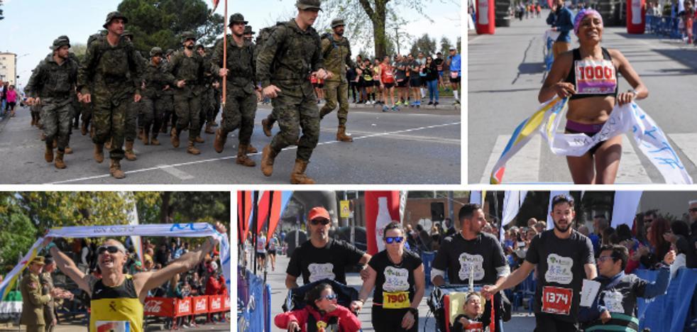 El maratón de Badajoz se corre a paso marcial