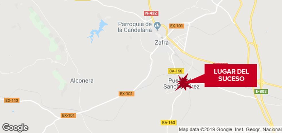 Una mujer de 83 años resulta herida grave tras ser atropellada en Puebla de Sancho Pérez