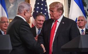 Trump reconoce formalmente la soberanía de Israel sobre los Altos del Golán