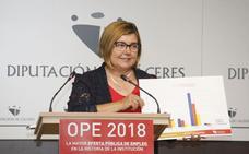 Rosario Cordero, dispuesta a repetir como presidenta de la Diputación de Cáceres