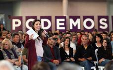 Irene Montero llega a Mérida para presentar a los candidatos
