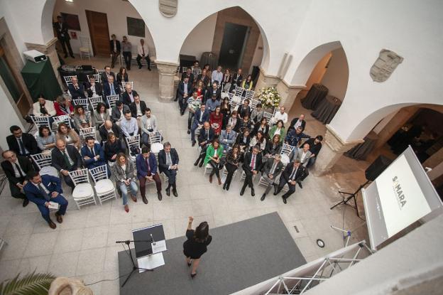 Acto celebrado ayer en el Palacio de Mayoralgo. :: jorge rey/