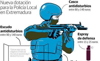Los policías locales de Extremadura también podrán usar táser, armas largas o espráis