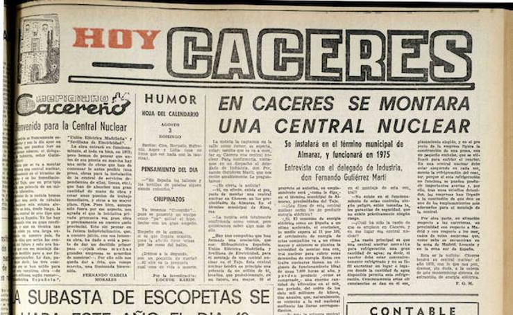 50 años de la historia de Almaraz en 10 noticias