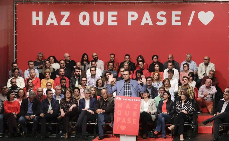 Acto político de Pedro Sánchez en Cáceres