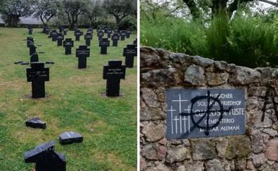 Destrozan nueve cruces del cementerio militar alemán de Cuacos de Yuste