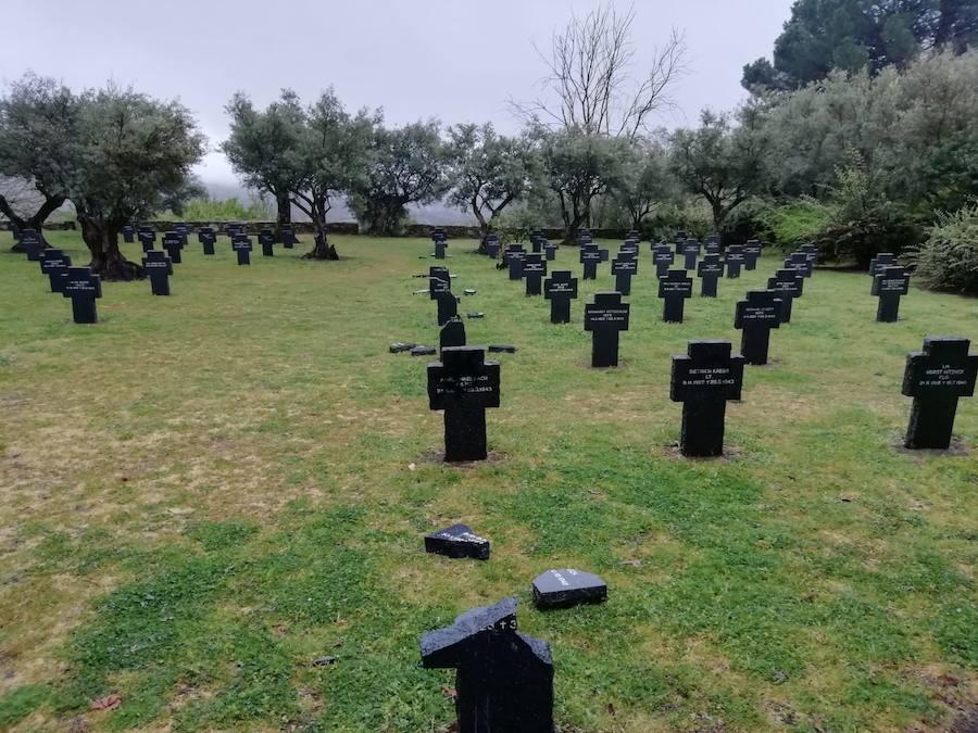 Vandalismo en el cementerio alemán de Cuacos de Yuste