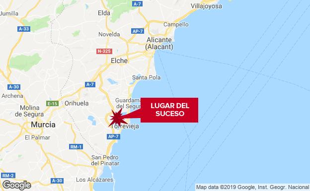 Hallada muerta y semidesnuda una mujer en un polígono de Torrevieja